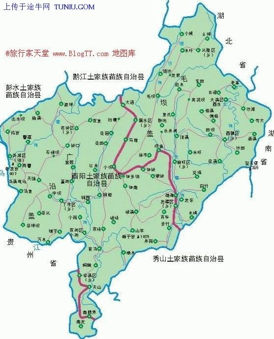 东邻湖南省龙山县,南与秀山县